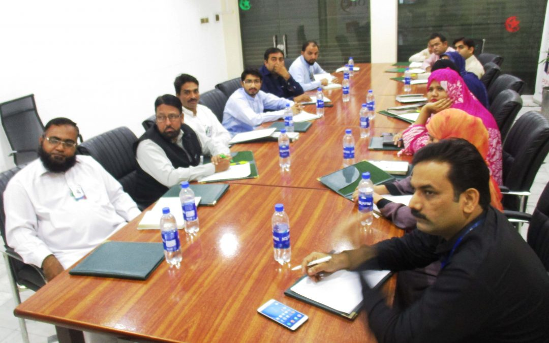 Weekly Staff Meeting in Punjab Developers Office