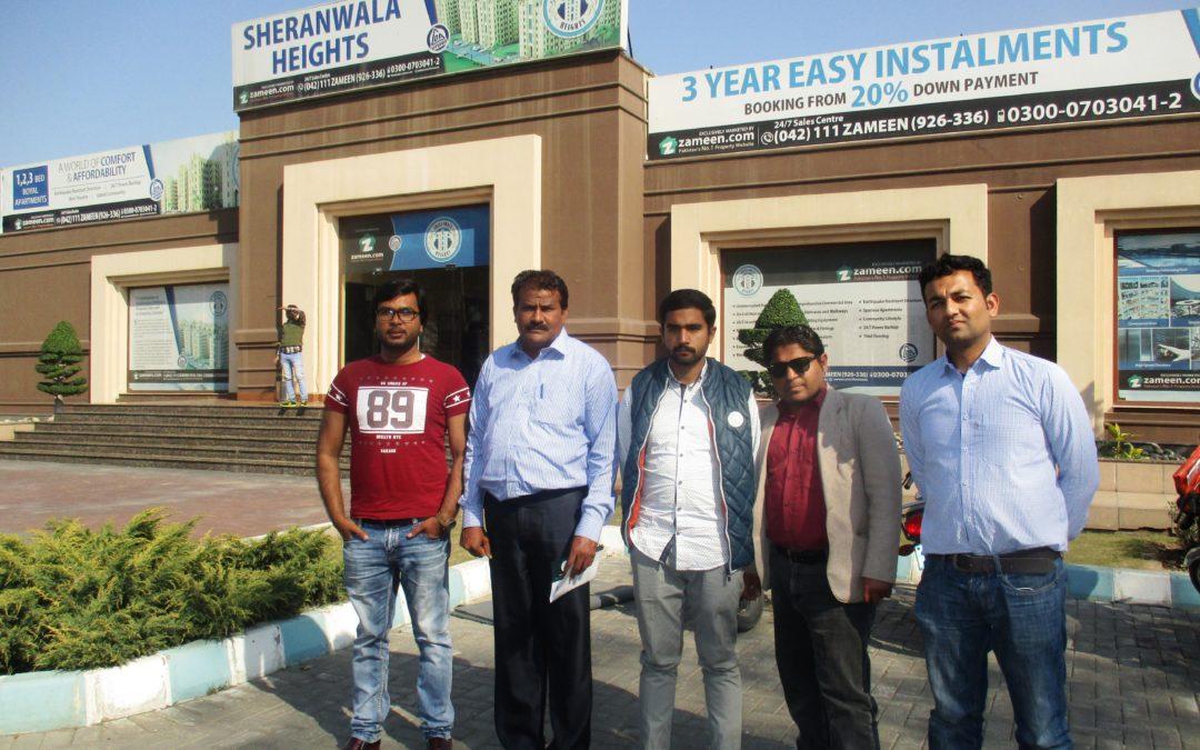پنجاب ڈویلپرز کی سیلز ٹیم کااکبرصدیق (پراجیکٹ مینجر) اور علی افضل (سیلز مینجر)کے ساتھ دورہ لاہور