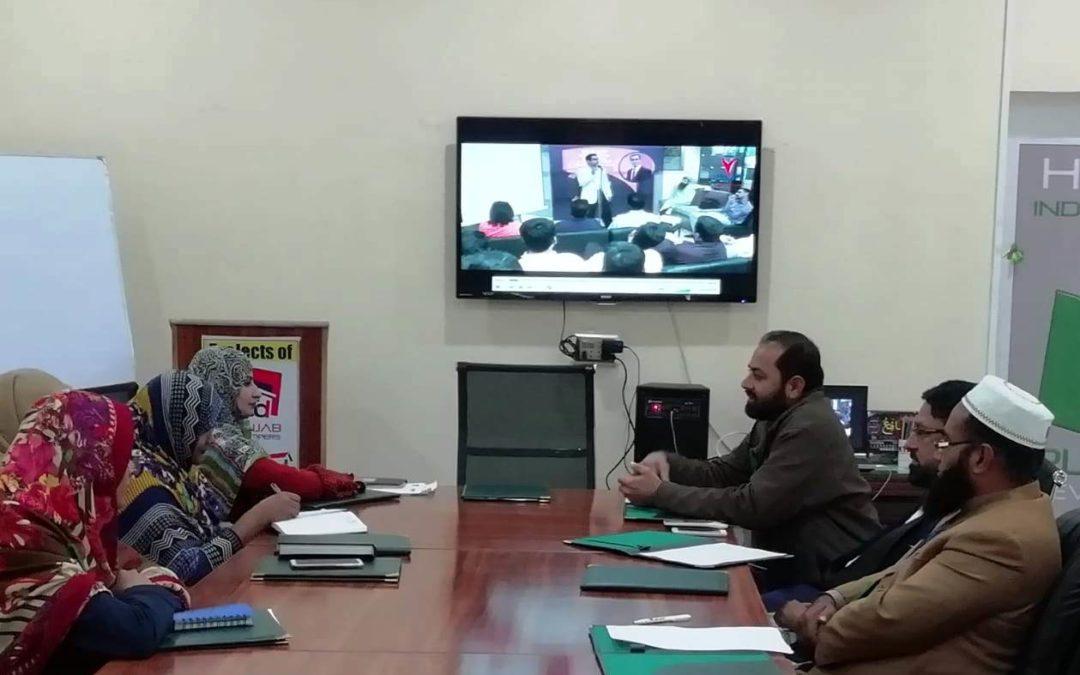 آفس پنجاب ڈویلپرز میں جنرل سٹاف میٹنگ کا انعقاد کیا گیا