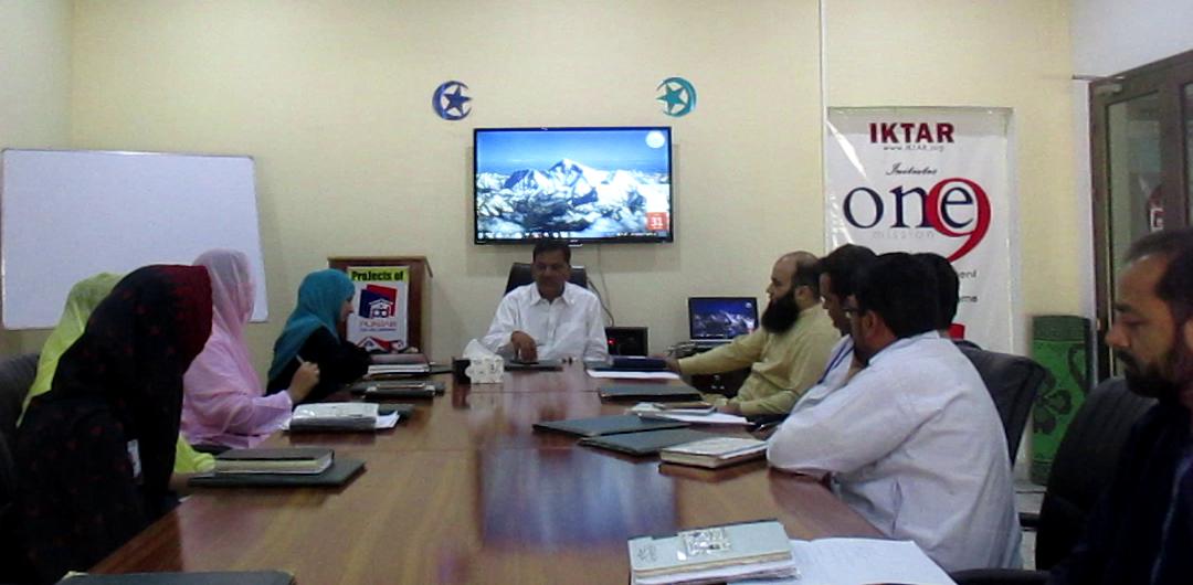 Weekly Staff Meeting in Office Punjab Developers