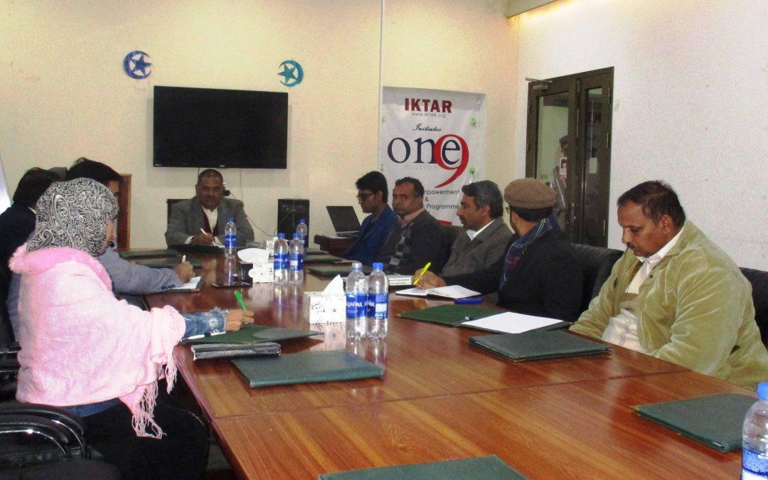 Weekly BODs Meeting held in Office Punjab Developers