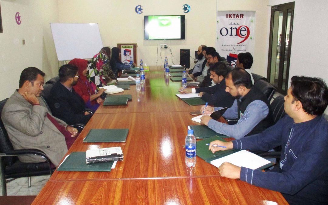 Weekly Staff Meeting held in Punjab Developers Office