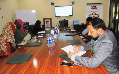 آفس پنجاب ڈویلپرز میں جنرل اسٹاف میٹنگ منعقد کی گئی