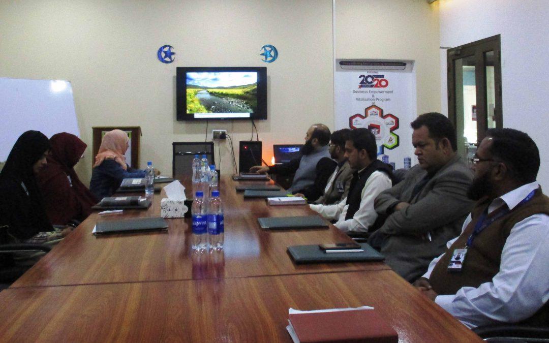 آفس پنجاب ڈویلپرز میں ہفتہ وار اسٹاف میٹنگ منعقد کی گئی۔